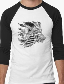 Stripes and Lion Head Men's Baseball ¾ T-Shirt