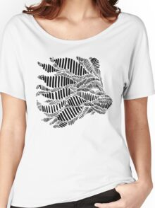 Stripes and Lion Head Women's Relaxed Fit T-Shirt