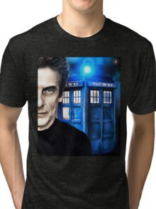 Doctor Who - Portrait of 12th Tri-blend T-Shirt