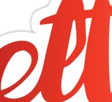 delta red Sticker
