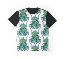 Green and Blue Beetle Graphic T-Shirt