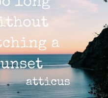 Sunset by Atticus Sticker