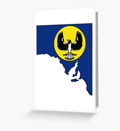South Australia Map With State Flag Greeting Card