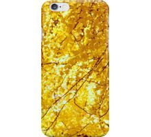Sunlit Ginkgo Tree in Fall iPhone Case/Skin