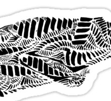 Stripes and Whales Sticker
