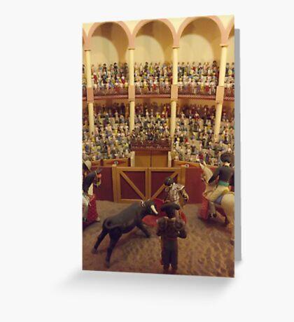 Miniature Bullfighting Ring, Santa Fe, New Mexico Greeting Card