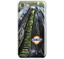 London Underground Urban Cityscape Jubilee Line Subway Station Escalators Contemporary Acrylic Painting iPhone Case/Skin
