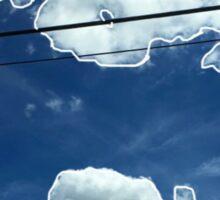 Blue Clouds Sticker