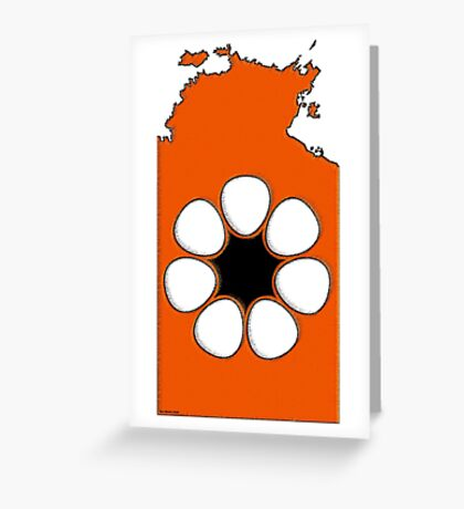 Northern Territory Australia Map with Northern Territory Flag Greeting Card