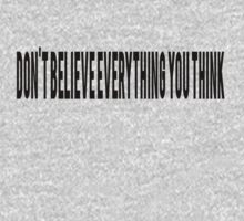 Don't believe everything you think by Alan Craker