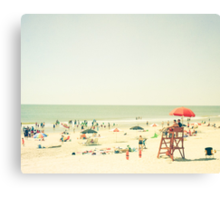 One Summer Day at the Beach Canvas Print