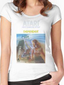 Atari Defender  Women's Fitted Scoop T-Shirt