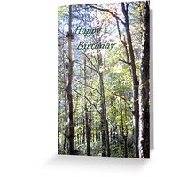 Birthday Card - trees Greeting Card