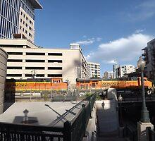 Locomotives, Freight Train, Downtown Denver, Colorado by lenspiro