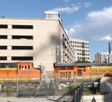Locomotives, Freight Train, Downtown Denver, Colorado Sticker