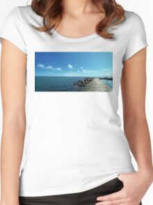 floating 2 Women's Fitted Scoop T-Shirt
