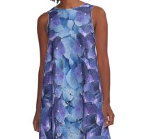 Hydrangea Blossom Clusters A-Line Dress