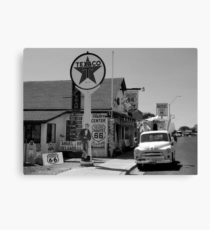 James Dean and route 66  Canvas Print