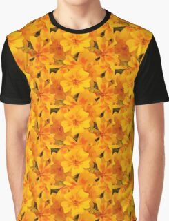 Tagette Blossoms Macro Graphic T-Shirt