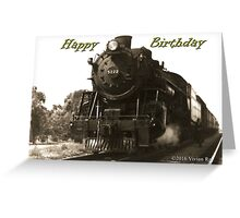 A Train From the Past Greeting Card