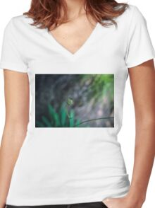 Two emotions Women's Fitted V-Neck T-Shirt