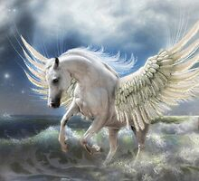 Pegasus Rising by Trudi's Images