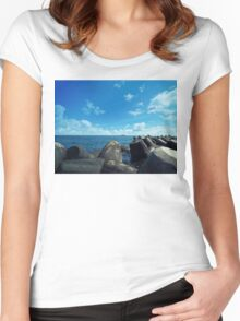 black sea Women's Fitted Scoop T-Shirt