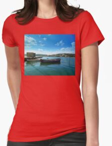 floating Womens Fitted T-Shirt