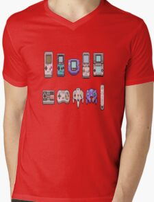 Retro Gamer Mens V-Neck T-Shirt