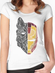 Game Of Thrones / Iron Man: Stark Family Women's Fitted Scoop T-Shirt