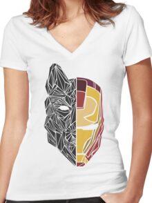 Game Of Thrones / Iron Man: Stark Family Women's Fitted V-Neck T-Shirt