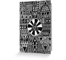 Mystery Black and White Pattern Greeting Card