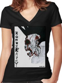 Zombie Army Women's Fitted V-Neck T-Shirt