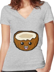 Coconuts! Women's Fitted V-Neck T-Shirt