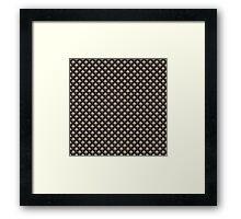 The Moth, pattern Framed Print