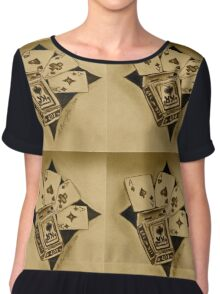 Aces of gold Chiffon Top