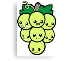 Fruit of the Vine:  Green Grapes Canvas Print