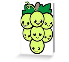 Fruit of the Vine:  Green Grapes Greeting Card
