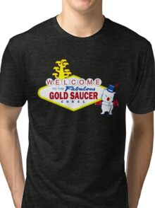 Fabulous Gold Saucer Alternate Tri-blend T-Shirt