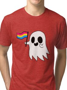 Pansexual Pride Ghost Tri-blend T-Shirt