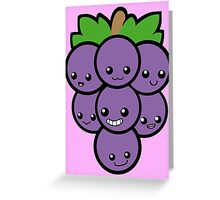 Fruit of the Vine: Purple Grapes Greeting Card