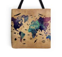 Map of the world atlas Tote Bag