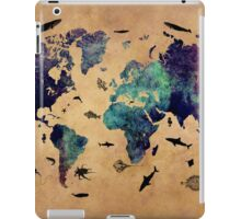 Map of the world atlas iPad Case/Skin