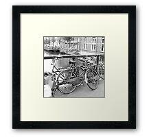 Bicycles Amsterdam Framed Print