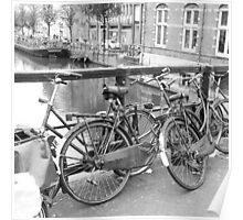 Bicycles Amsterdam Poster