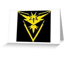 Pixel Instinct 8-bit Yellow Greeting Card