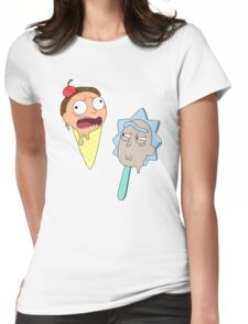 Ice cream Rick and Morty Womens Fitted T-Shirt