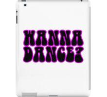 Wanna Dance 80s 70s Retro Disco Neon Music iPad Case/Skin