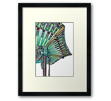 Korean Buddhist Pagoda Temple Framed Print