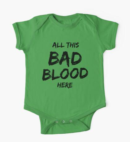 Bad Blood - BLACK One Piece - Short Sleeve